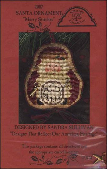2007 Santa Ornament: Merry Stitches