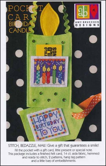 Pocket Card: Birthday Candle