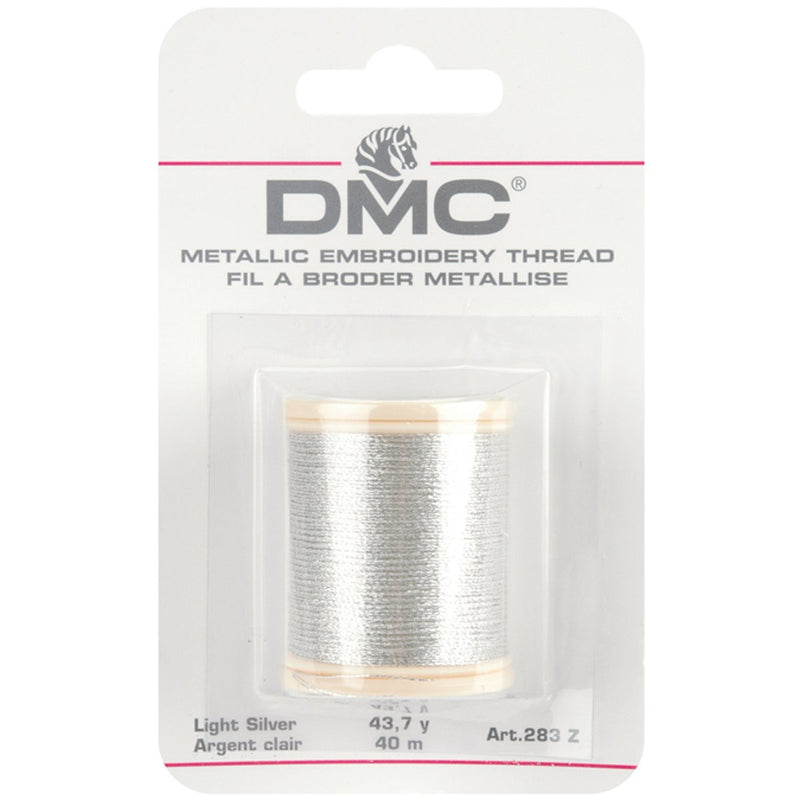 ~ DMC METALLIC FLOSS SPOOLS. LIGHT SILVER (283Z) ~