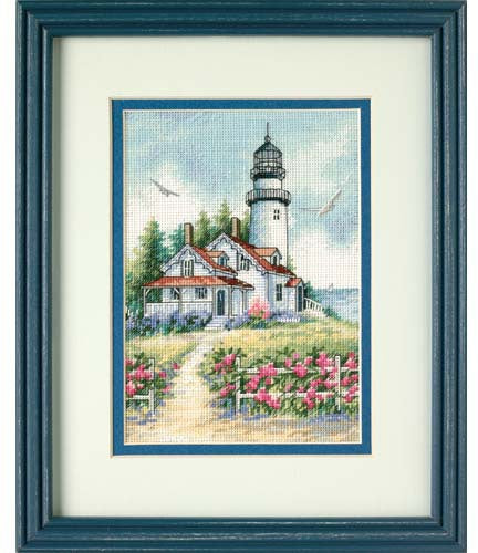 Scenic Lighthouse ~ Dimensions Counted Cross-Stitch Kit