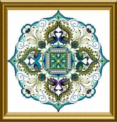 The Sparkling Peacock Mandala ~ Châtelaine Designs