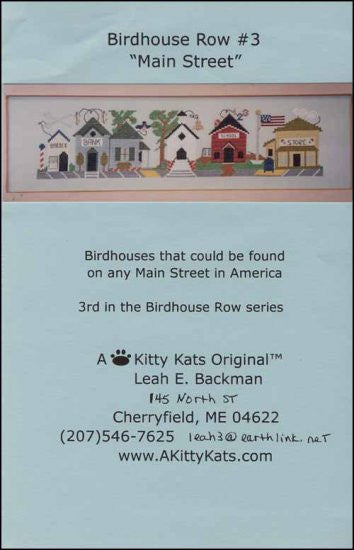 Birdhouse Row 3: Main Street ~ A Kitty Kats Original