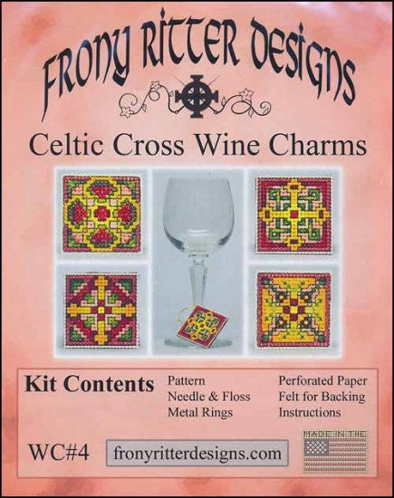 Celtic Cross Wine Charms