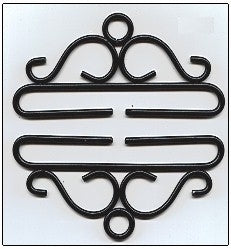 Bellpull ~ Black Wrought Iron ~ 24cm