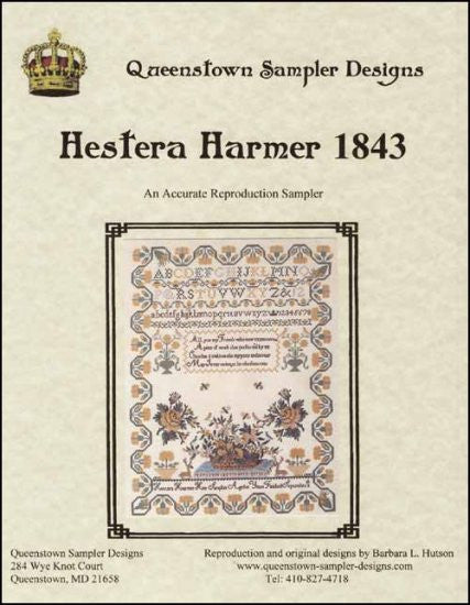 Hertera Harmer 1843 ~ Queenstown Sampler Designs