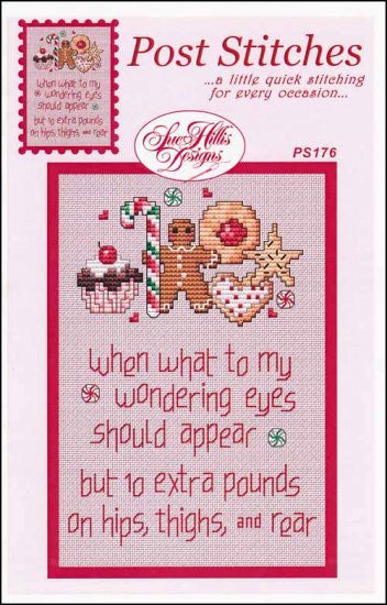 Post Stitches: Ten Extra Pounds, Pack of 3 ~ Sue Hillis Designs