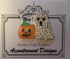 Glamorous ~ GHOSTY AND PUMPKIN ~ Accoutrement Magnet