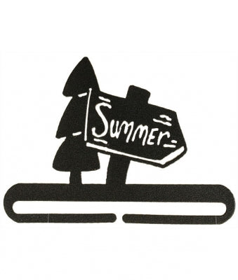 Bellpull ~ Summer Sign Split Btm - Charcoal