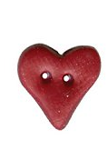 Button - Dark Red Plain Folk Heart, Small ~ Stoney Creek Collection