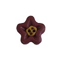 Button - Terra Cotta Flower Head, Small ~ Stoney Creek Collection