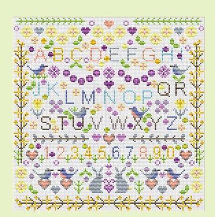 Spring Flowers Sampler ~ RDH111-PRT ~ Riverdrift House
