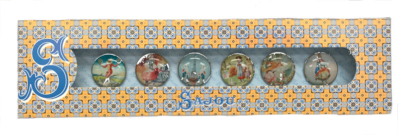 Set of Six Sajou Character Buttons ~ SAJOU