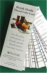 KREINIK METALLIC THREAD COLOR CARD
