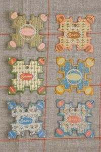 Cabourg Thread Cards - Tiny Floral Motifs ~ SAJOU