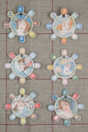 Barfleur Thread Cards - Women's Portraits ~ SAJOU