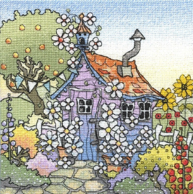 Up The Garden Path (14ct Aida)~ Michael Powell Art Kit