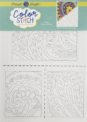 Persian Paisley - Perforated Paper Color Stitch
