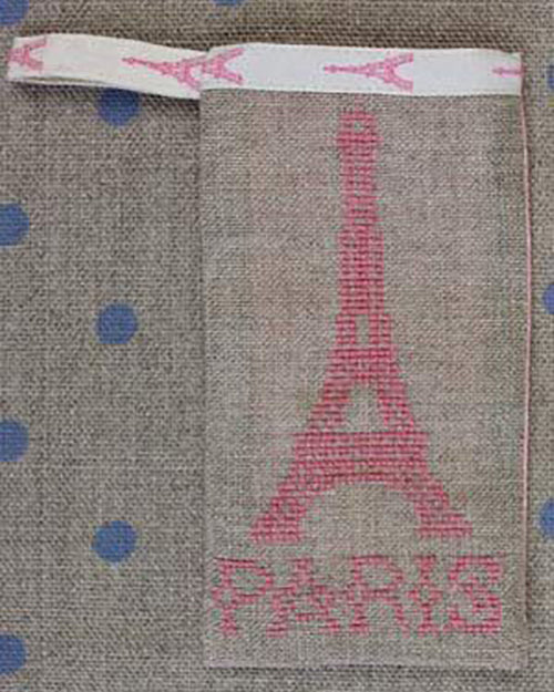 Sajou Paris - Eiffel Tower Pouch Kit - Pink ~ Needlework Projects ~ SAJOU