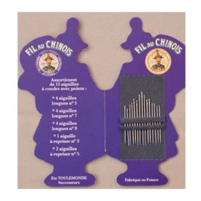 Fil Au Chinois Folding Sewing Needle Booklet ~ SAJOU