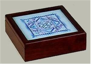 "Sudberry House ~ Simply Square 6"" X 6"" Box ~ Mahogany"