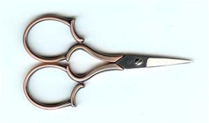 "Sullivans ~ 4"" COPPER LEAF HANDLE EMBROIDERY SCISSOR"