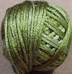 Valdani Silk Floss ~  VAK10519  ~ Green Olives