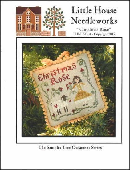Sampler Tree Ornament: Christmas Rose