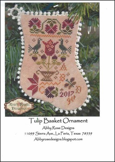 Tulip Basket Ornament ~ Abby Rose Designs