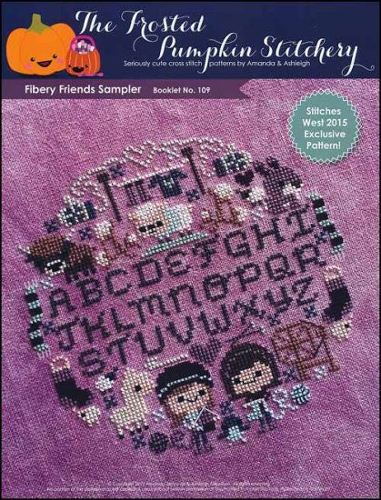 Fibery Friends Sampler ~  The Frosted Pumpkin Stitchery