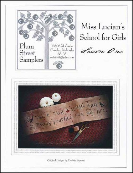 Lesson One ~ Plum Street Samplers