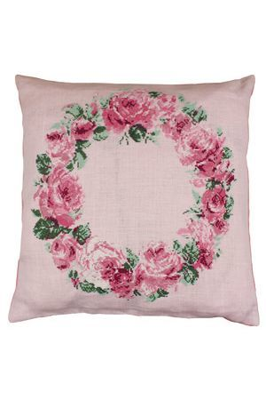 Cross-Stitch Kit Crown of Roses Cushion ~ Needlework Projects ~ SAJOU