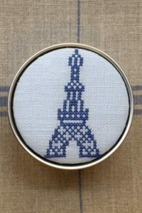 Sajou Cross Stitch Kit - Eiffel Tower Box to Embroider ~ Needlework Projects ~ SAJOU