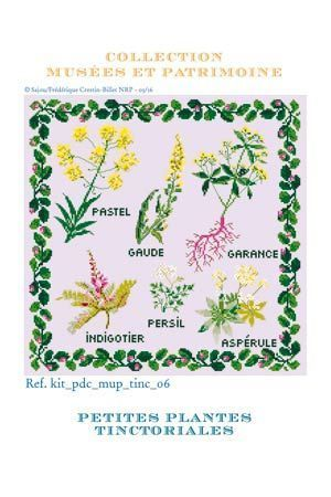 Cross Stitch Kit of Tinctorial Plants - Small Version ~ Needlework Projects ~ SAJOU