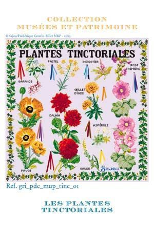 Cross Stitch Kit of Tinctorial Plants ~ Needlework Projects ~ SAJOU
