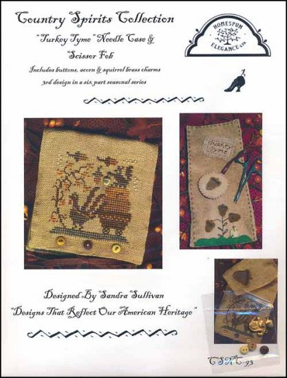 Turkey Tyme Needle Case ~ Homespun Elegance Ltd