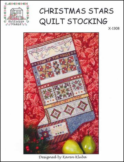 Christmas Stars Quilt Stocking ~ Rosewood Manor