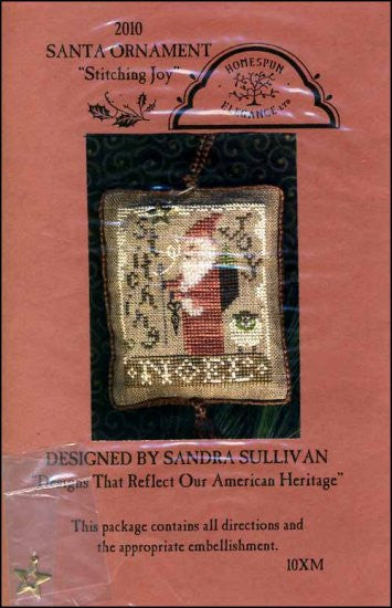 2010 Santa Ornament: Stitching Joy
