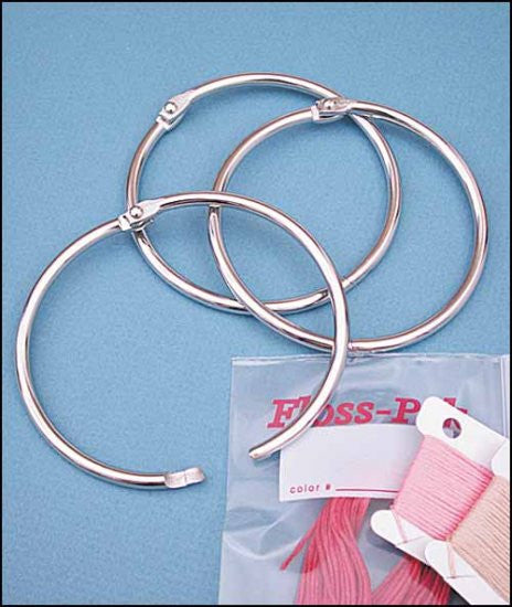"3"" METAL RINGS, PACK OF 10 FOR FLOSS ORGANIZERS"