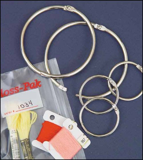 "1 1/2"" RINGS, PACK OF 6 FOR FLOSS ORGANIZERS"