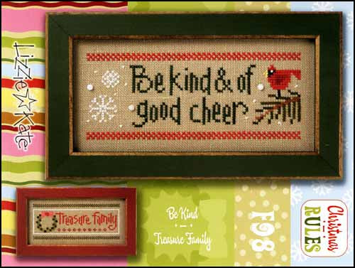 Christmas Rules Double Flip: Be Kind / Treasure Family~ Lizzie Kate
