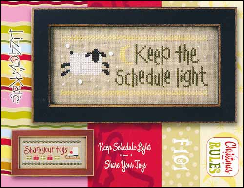 Christmas Rules Double Flip: Keep Schedule Light/Share Your Toys~ Lizzie Kate