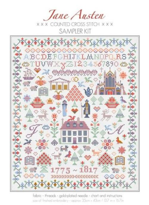 Jane Austen Sampler ~ RDH112-PRT ~ Riverdrift House