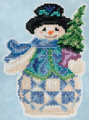 Evergreen Snowman - Jim Shore Mill Hill Kit JS20-5101