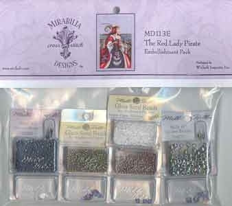 MD113E ~ The Red Lady Pirate ~ Embellishment Pack
