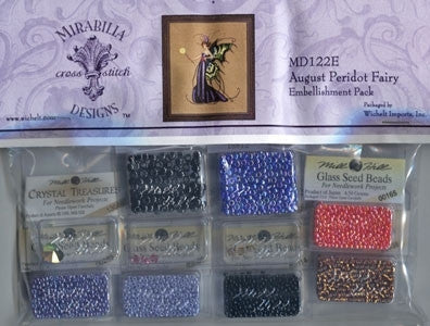 MD122E ~ August Peridot Fairy ~ Embellishment Pack