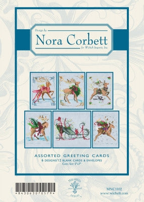 MNC1102 ~ Christmas Eve Couriers Greeting Cards ~ Nora Corbett