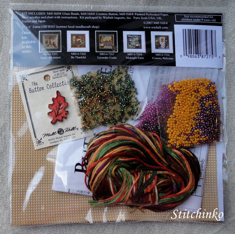 Autumn Wreath - Mill Hill Kit MH14-7205