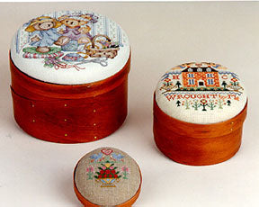 Sudberry House ~ Shaker Pincushion ~ Round Shaker Boxes