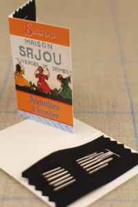Embroidery Needle Booklet - Package of Six Needles -Three Sajou Girls ~ SAJOU