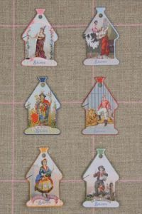 Domfront Thread Cards - Vintage Thread Brands and Their Mascots ~ SAJOU